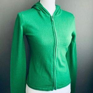 Miss Me Green Zip Up Cardigan Hoodie